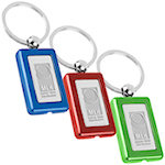 Rectangle Metal Light Key Tags